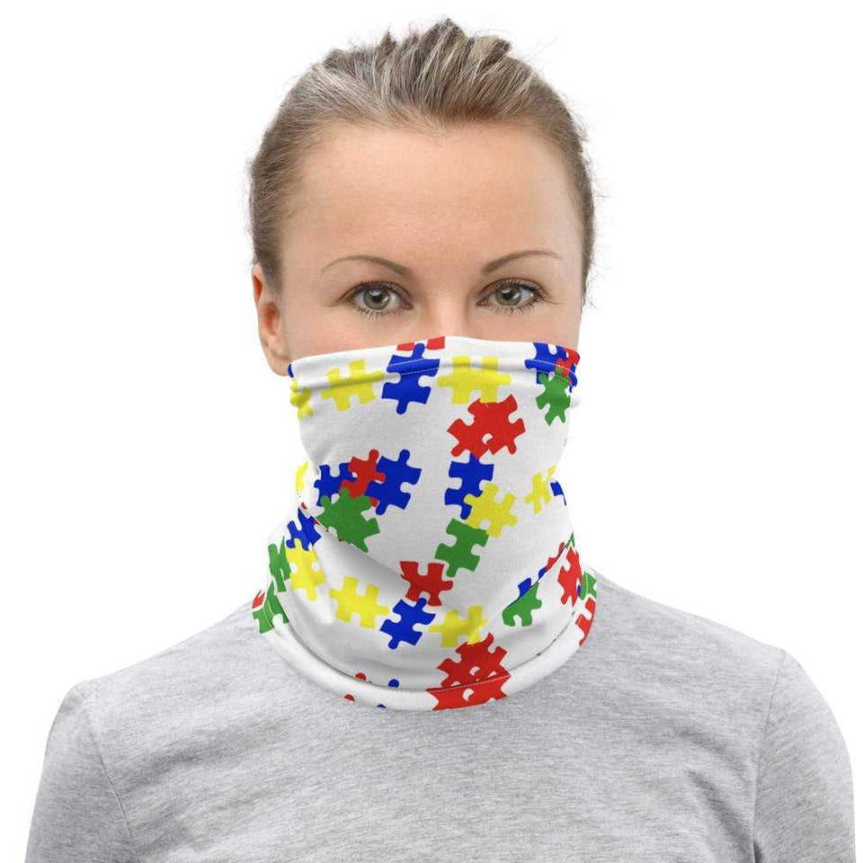 Autism Puzzle Washable Face Mask / Neck Gaiter The Awareness Expo Autism
