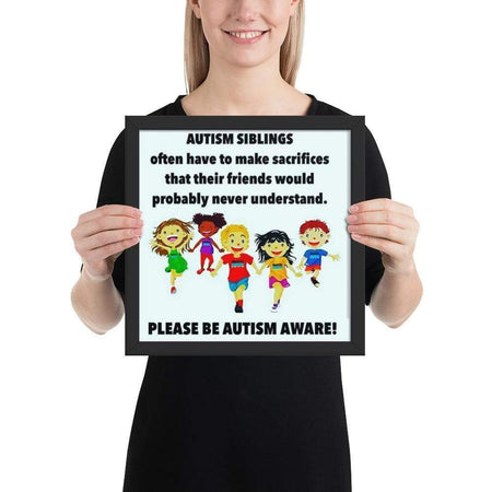 """Autism Siblings"" Framed poster The Awareness Expo Autism"