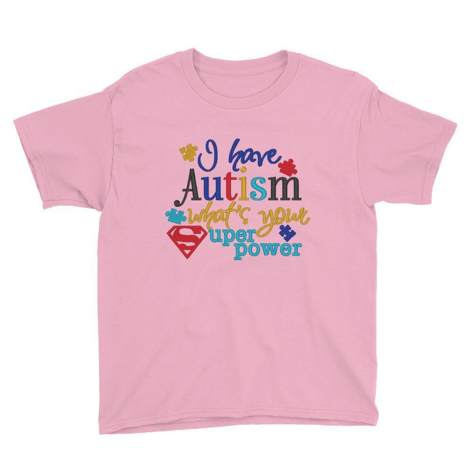 I Have Autism Whats Your Superpower Kids T-Shirt The Awareness Expo Autism