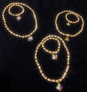 "Autism Charm Bracelet & Necklace Set ""Gold Edition"" The Awareness Expo"
