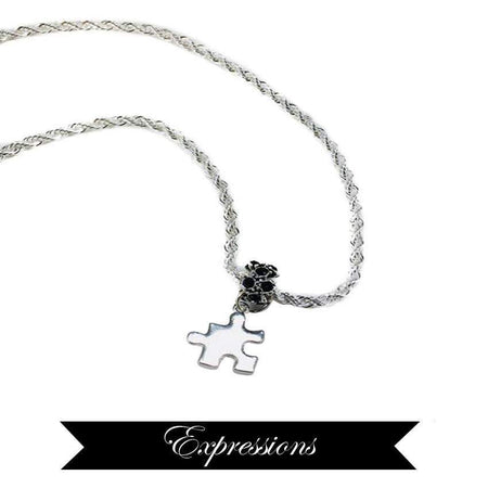 """Expressions"" Sterling Silver Autism Necklace The Awareness Expo Autism"