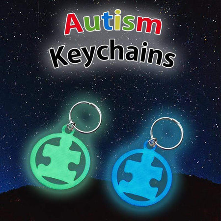 Glowing Puzzle Piece Autism Awareness Keychain The Awareness Expo Autism