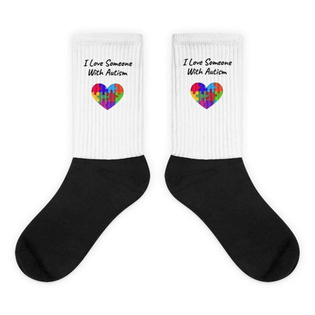 """I Love Someone With Autism""  Socks The Awareness Expo Autism"