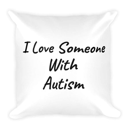 I Love Someone With Autism Throw Pillow The Awareness Expo Autism