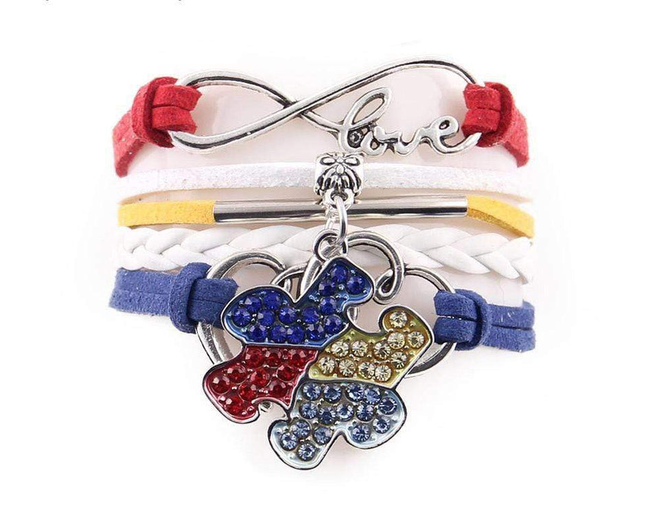 Infinity Love Braided Autism Awareness Bracelet The Awareness Expo Autism