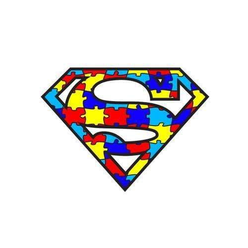 Iron on Autism Awareness Patch - Puzzle Piece Superman The Awareness Expo Autism