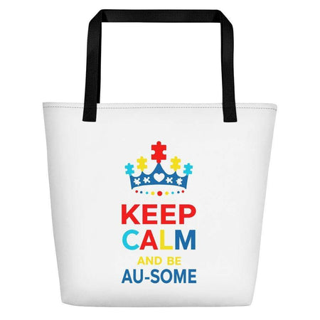 Keep Calm Au-some Beach Bag The Awareness Expo Autism
