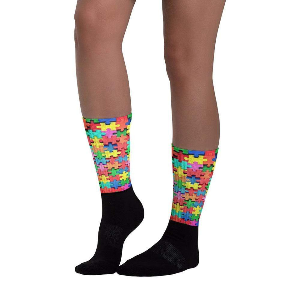Autism Awareness Colorful Puzzle Piece Socks The Awareness Expo Autism