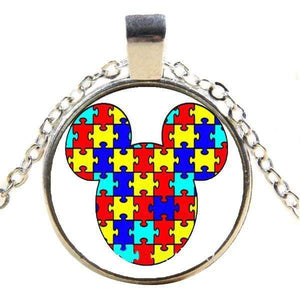 Mickey Mouse Autism Puzzle Piece Necklace The Awareness Expo Autism