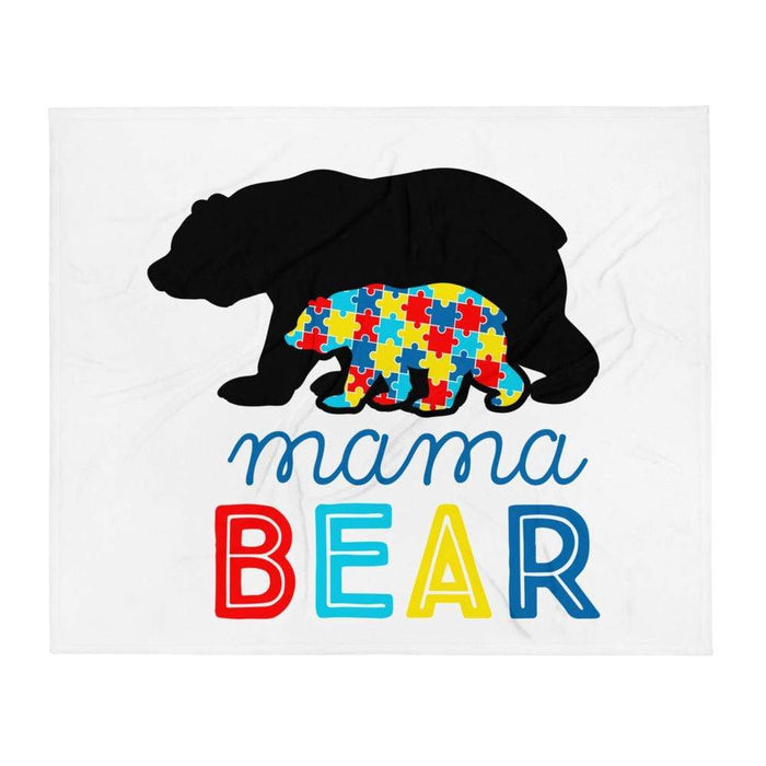 Momma Bear Autism Awareness Blanket The Awareness Expo Autism