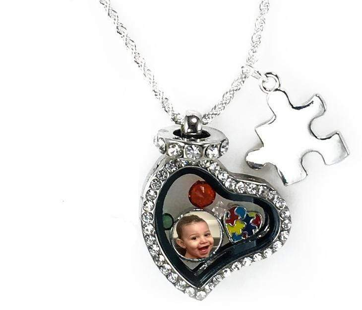 Personalized Autism Awareness Heart Locket The Awareness Expo Autism