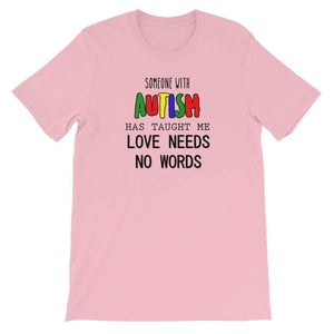 Love Needs No Words Autism Awareness T-Shirt The Awareness Expo Autism