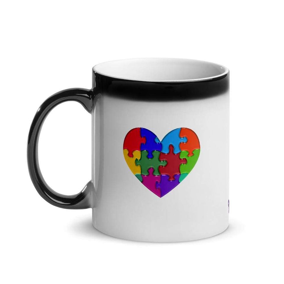 """Proud Autism Dad"" Glossy Magic Mug The Awareness Expo Autism"