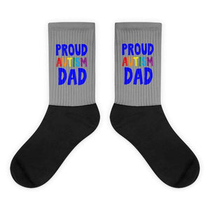 """Proud Autism Dad"" Socks The Awareness Expo Autism"