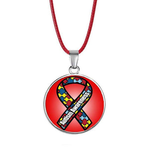 Bright Autism Awareness Charm Necklace The Awareness Expo Autism