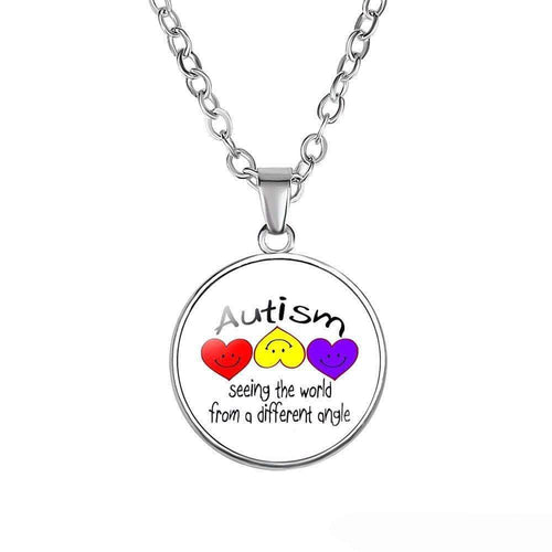 Seeing The World From A Different Angle - Autism Necklace The Awareness Expo Autism