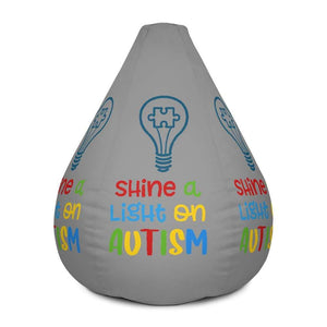 Shine A Light On Autism Bean Bag Chair w/ filling The Awareness Expo Autism