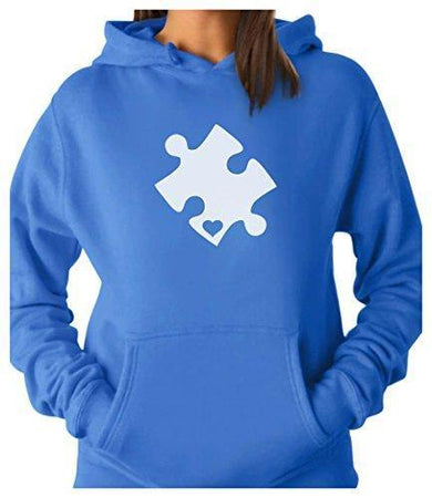 Heart Cut Puzzle Autism Awareness Hoodie awareness-expo Autism