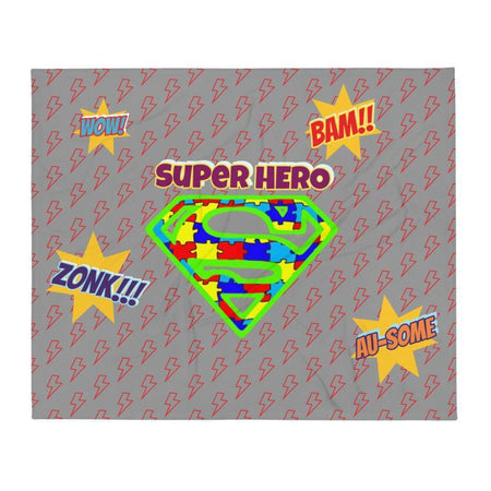 Super Hero Autism Throw Blanket The Awareness Expo Autism