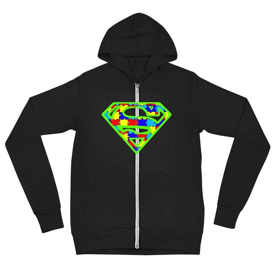 Super Hero Autism zip hoodie The Awareness Expo Autism