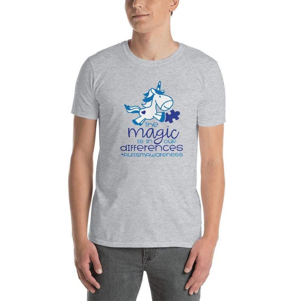 The Magic Is In Our Differences Autism Awareness T-Shirt The Awareness Expo Autism