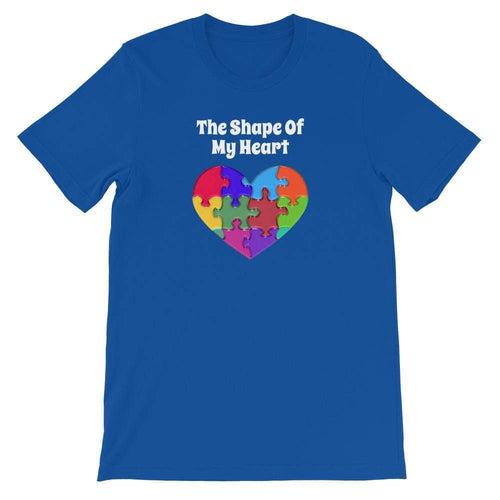 The Shape of My Heart Autism T-Shirt The Awareness Expo Autism
