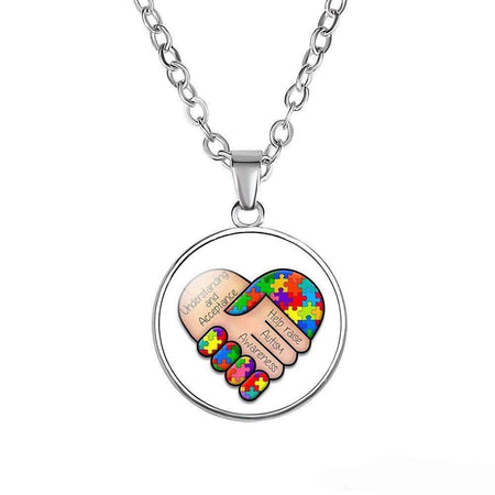 Understanding & Acceptance Autism Necklace The Awareness Expo Autism