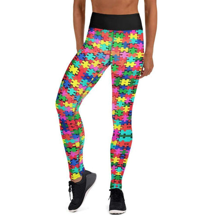 Autism Awareness Puzzle Piece Yoga Leggings The Awareness Expo Autism
