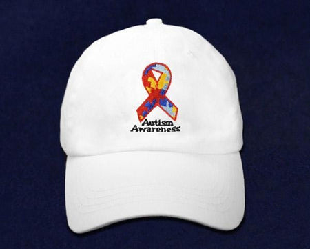 autism puzzle piece ribbon hat