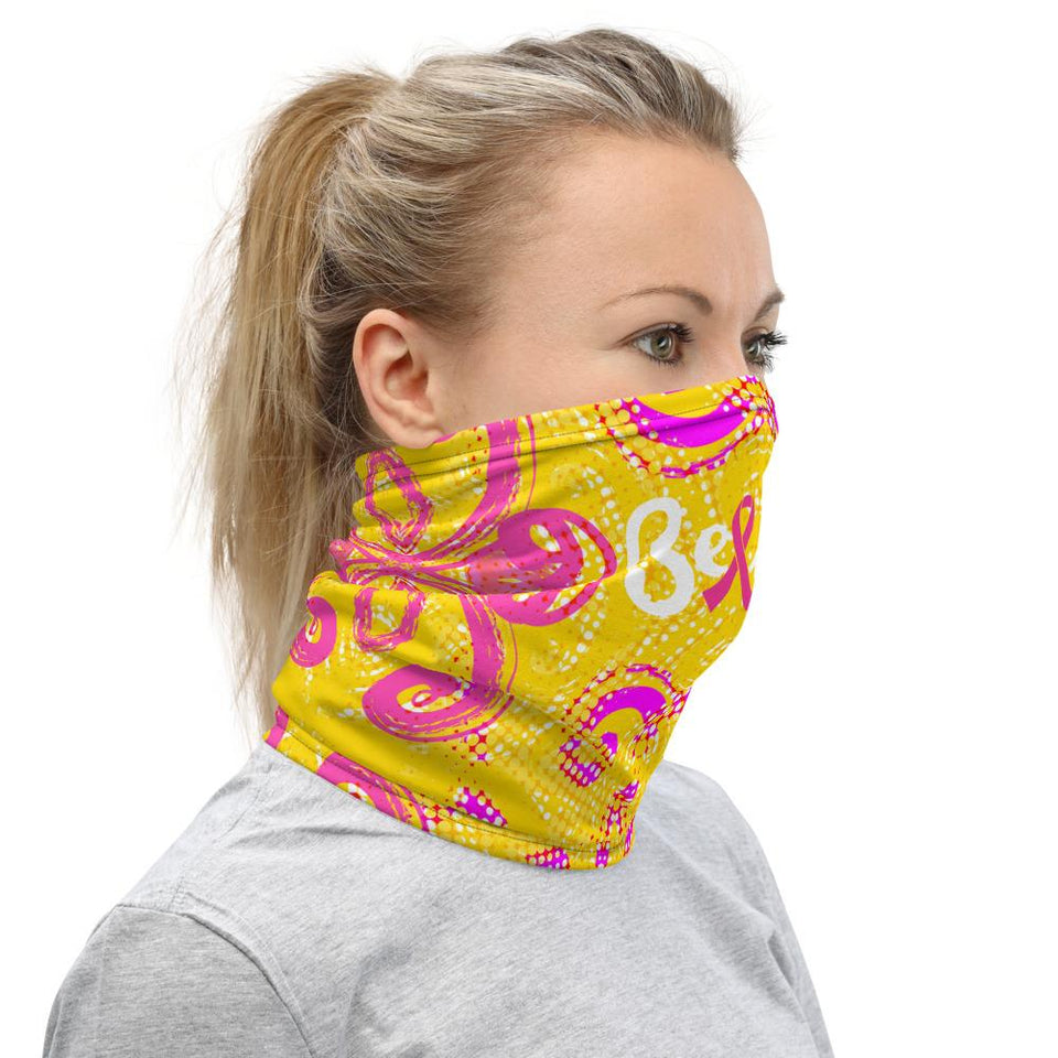Believe Breast Cancer Ribbon Face Mask The Awareness Expo