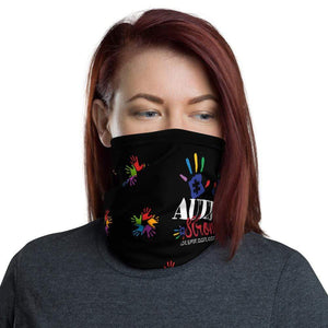 "Black ""Autism Strong"" Face Mask/Neck Gaiter The Awareness Expo"