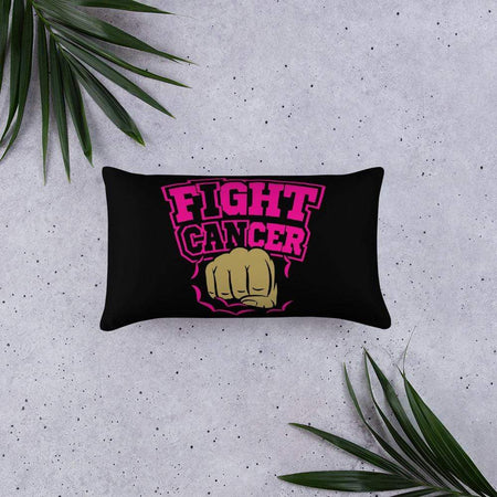 """Fight Cancer"" Black Breast Cancer Pillow The Awareness Expo Breast Cancer"