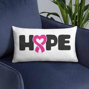 """Hope"" White Breast Cancer Pillow The Awareness Expo Breast Cancer"