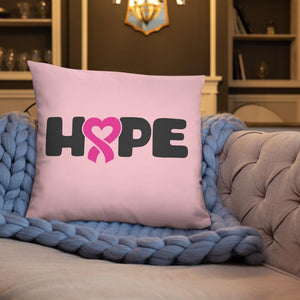 """Hope"" Pink Breast Cancer Pillow The Awareness Expo Breast Cancer"