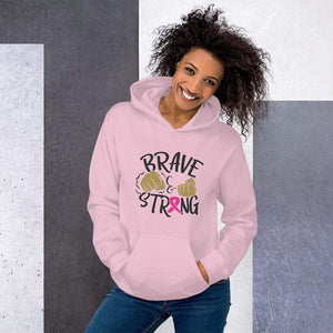 Brave & Strong Breast Cancer Awareness Hoodie The Awareness Expo Breast Cancer