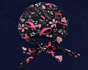 Breast Cancer Awareness Baseball Hat - Black With Pattern The Awareness Expo Breast Cancer