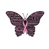 Breast Cancer Awareness Butterfly - Iron On Patch The Awareness Expo Breast Cancer
