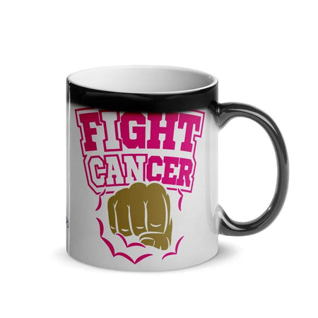 """Fight Cancer"" Glossy Magic Mug The Awareness Expo Breast Cancer"