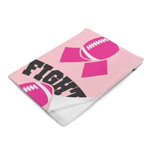 """Fight"" Pink Football Breast Cancer Awareness Throw Blanket The Awareness Expo Breast Cancer"