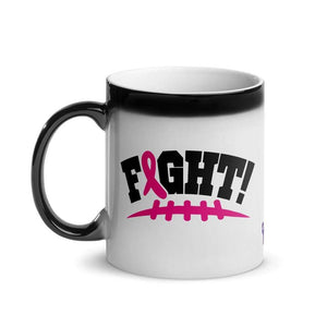 """Fight"" Pink Football Laces Glossy Magic Mug The Awareness Expo Breast Cancer"