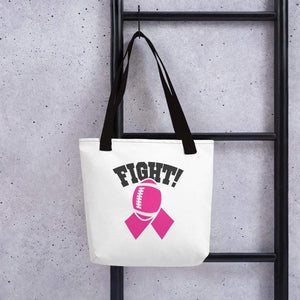 """Fight""/""Tackle Cancer"" Football Breast Cancer Handbag The Awareness Expo Breast Cancer"