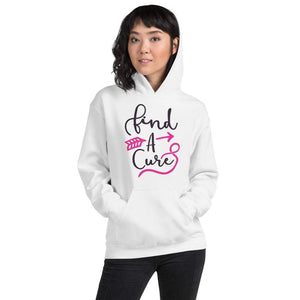 """Find A Cure"" Breast Cancer Awareness Hoodie The Awareness Expo Breast Cancer"