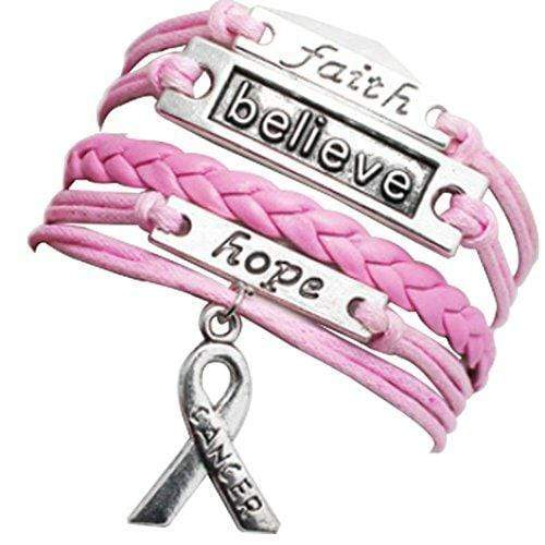 Faith Believe Hope Breast Cancer Awareness Bracelet The Awareness Expo Breast Cancer