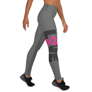 """Love"" Grey Breast Cancer Yoga Leggings The Awareness Expo Breast Cancer"