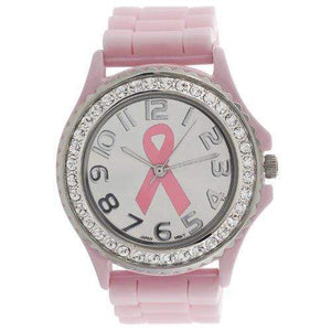 Pink Ribbon Breast Cancer Awareness Silicone Watch awareness-expo Breast Cancer