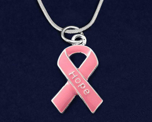 Pink Ribbon Hope  Necklace The Awareness Expo Breast Cancer
