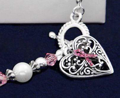 Pink Ribbon Hope Strength Courage Bracelet The Awareness Expo Breast Cancer