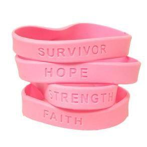 Survivor, Hope, Strength, Faith Breast Cancer Awareness Wristband The Awareness Expo Breast Cancer