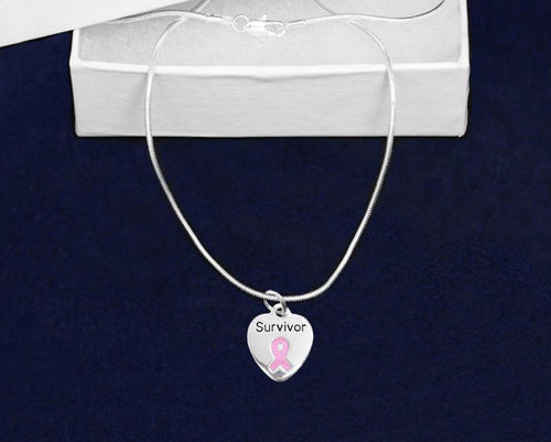 Survivor Pink Ribbon Necklace The Awareness Expo Breast Cancer