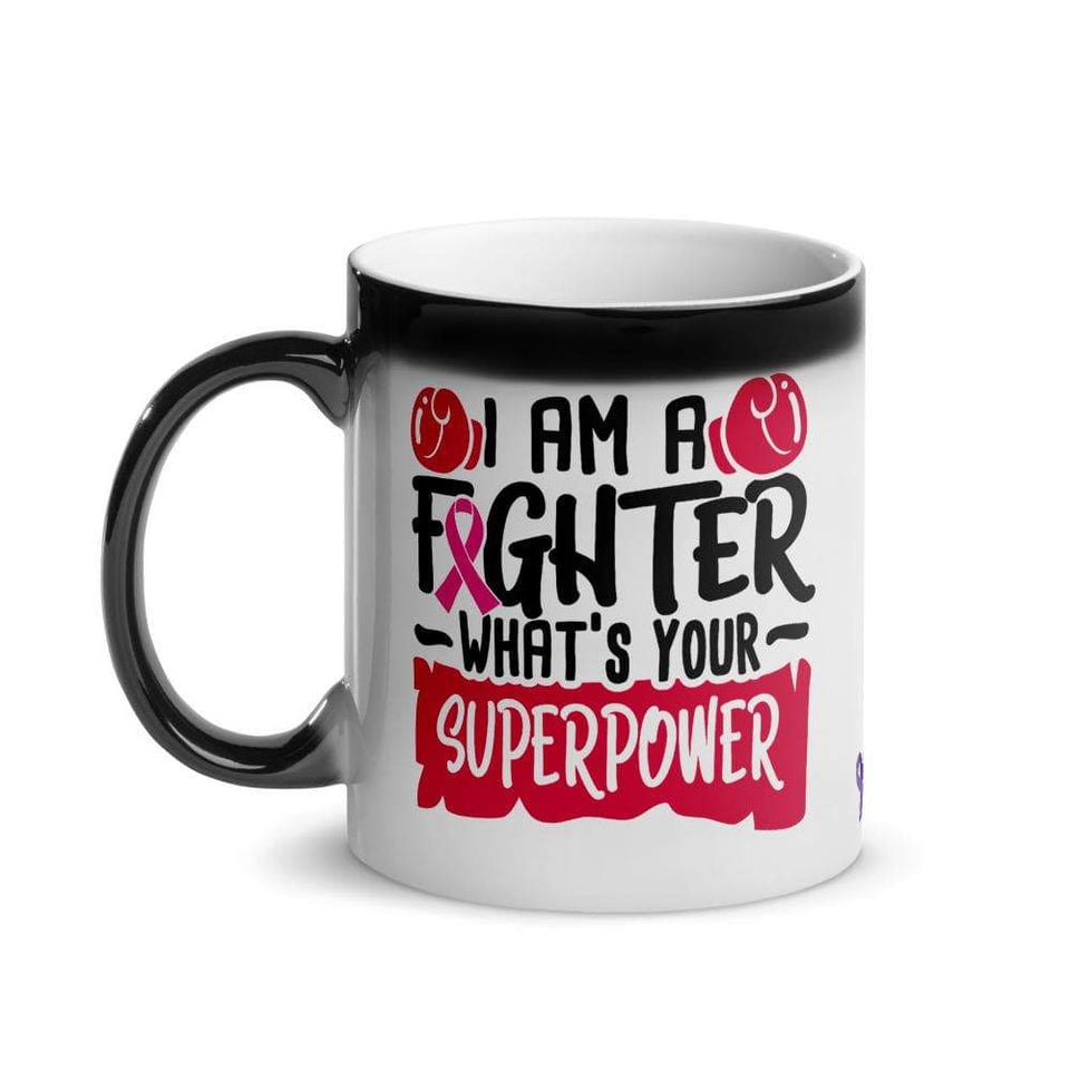 """What's Your SuperPower"" Glossy Magic Mug The Awareness Expo Breast Cancer"